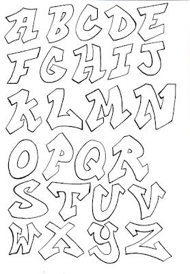 Sketch Graffiti Letters Alphabet A Z Design
