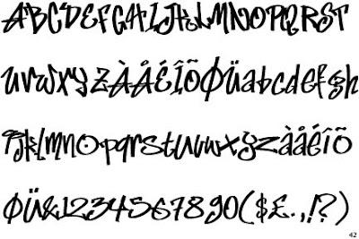 Number Names Worksheets number letter alphabet : TREND GRAFFITI: Marker-Fat Alphabet Graffiti : Letter A-Z and Number