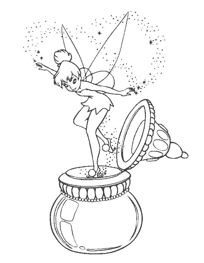 Nengaku Tinkerbell Coloring Pages Out Of Wonder Vases