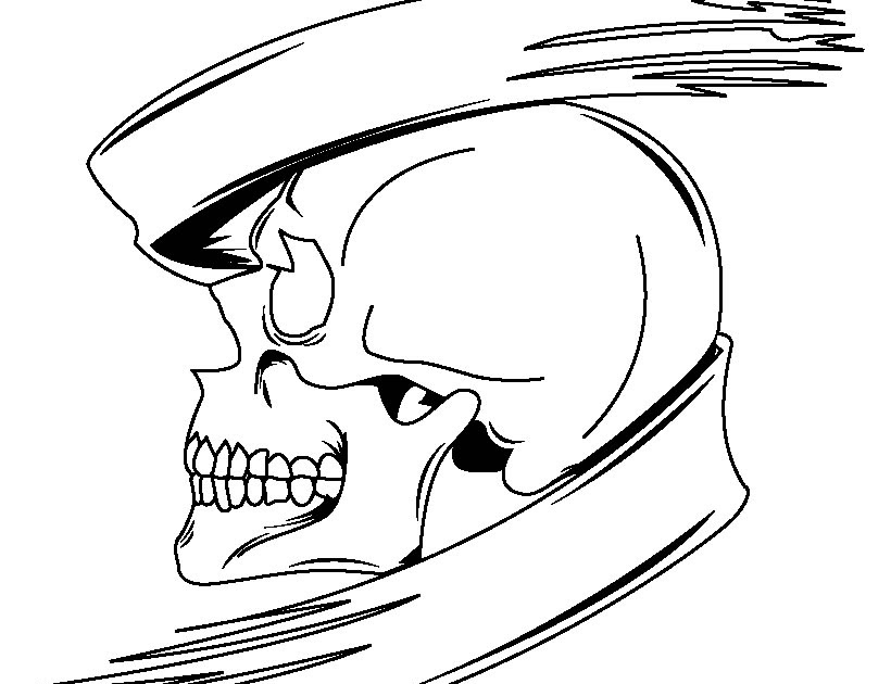 Scary Halloween Skull Coloring Page >> Disney Coloring Pages