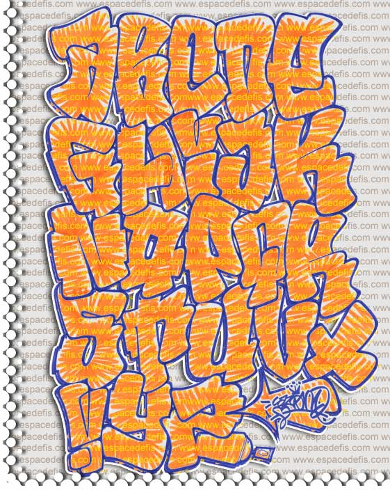 Alphabet Graffiti Yellow Throw Up Amazing Graffiti In The World 2013
