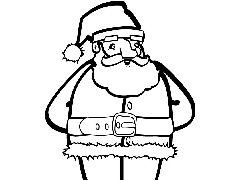Flower Coloring Pages: Santa Chimney Coloring Pagesuper