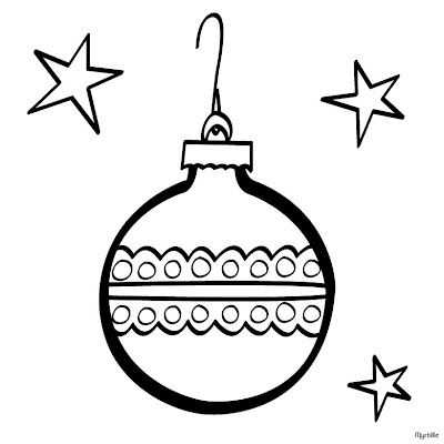 Star Christmas Ball Coloring Pages >> Disney Coloring Pages