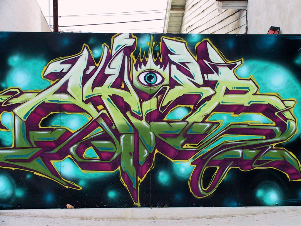 Grafity font graffiti art is not a crime but an art of beauty