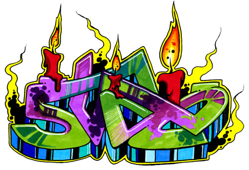 Wallpaper Graffiti: Colorful Wildstyle Graffiti Collection with 3D ...