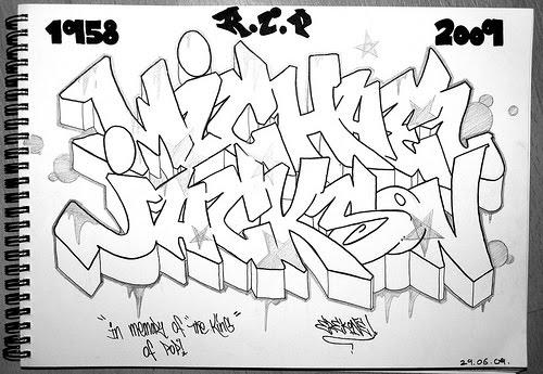 Drawing Sketches Graffiti Letters Michael Jackson Amazing