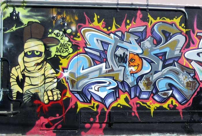 Graffiti Walls Best Graffiti Halloween Style 2010