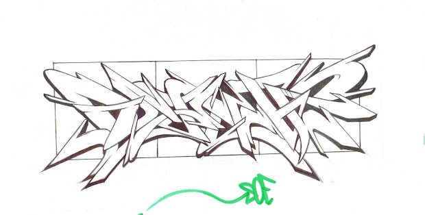 Graffiti Style Wildstyle - Sketches Outline