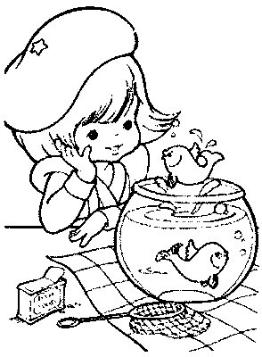 transmissionpress fish bowl kids coloring pages