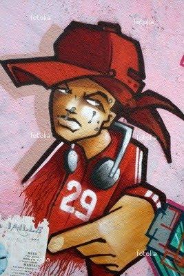 graffiti walls: Graffiti Rap - Hip Hop Street Art