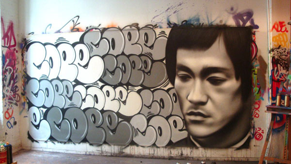 Graffiti Walls Graffiti Bubble Cope Quot Jet Lee Quot