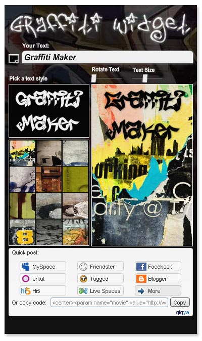 Grafity Font Graffiti Generator Creator Make Graffiti More Easily