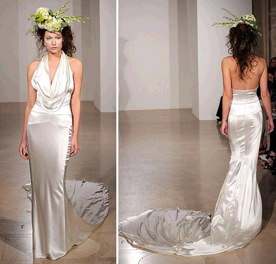 Princess's Blog: Column Wedding Dress This Sleek Modern