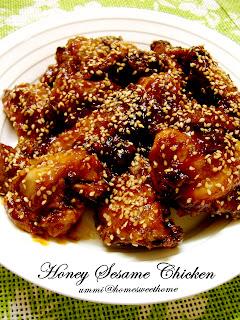 Home Sweet Home Honey Sesame Chicken Ayam Madu Bijan