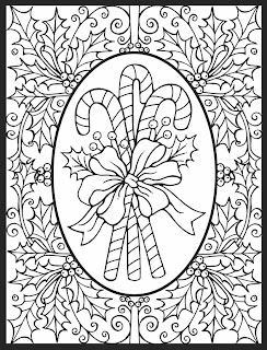 A Crowe's Gathering: Candy Cane Free Coloring page