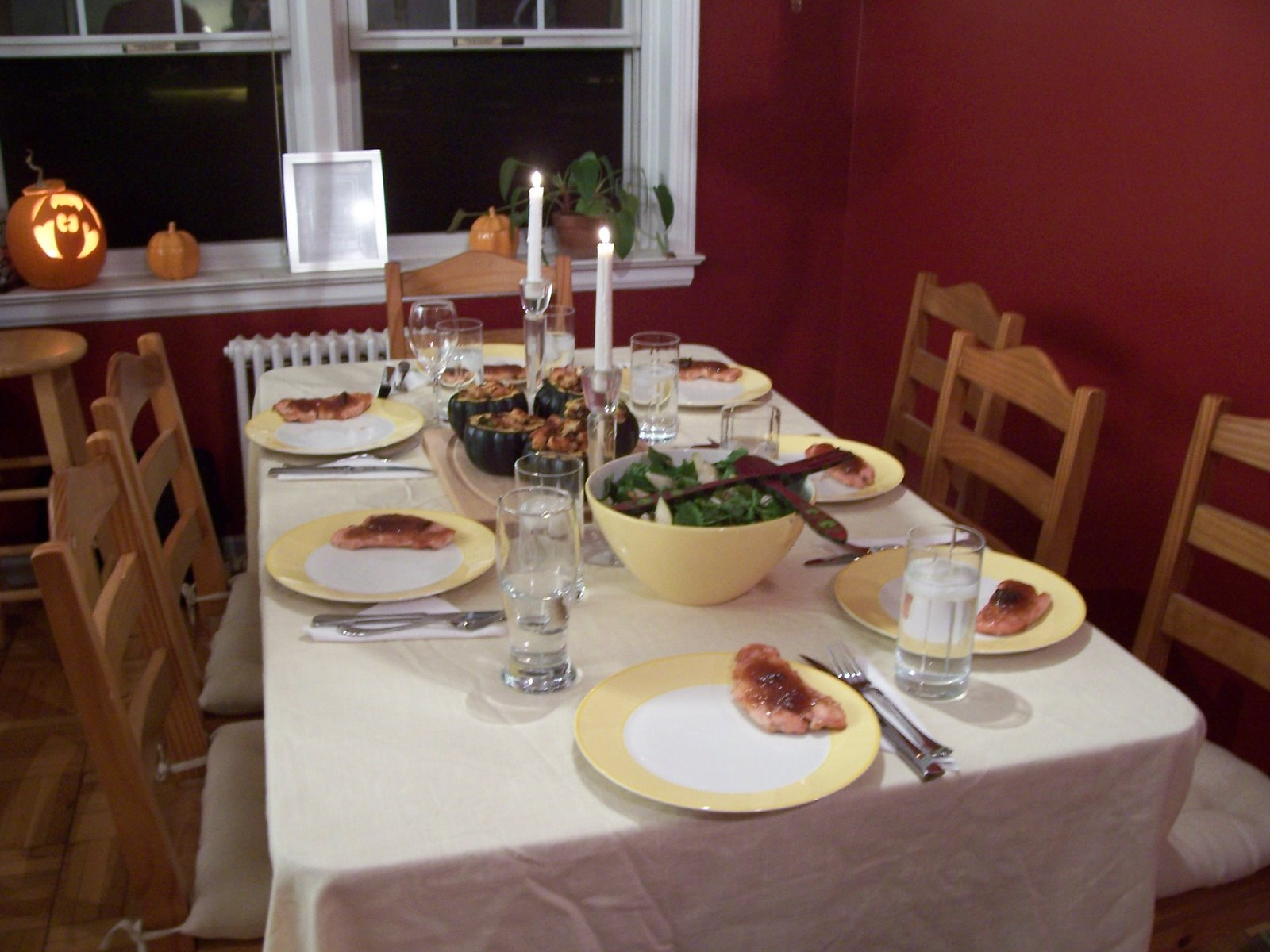 kitchenette fall family dinner. Black Bedroom Furniture Sets. Home Design Ideas