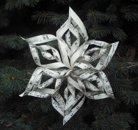 Projects I Will Do Someday Twisted Paper Snowflakes