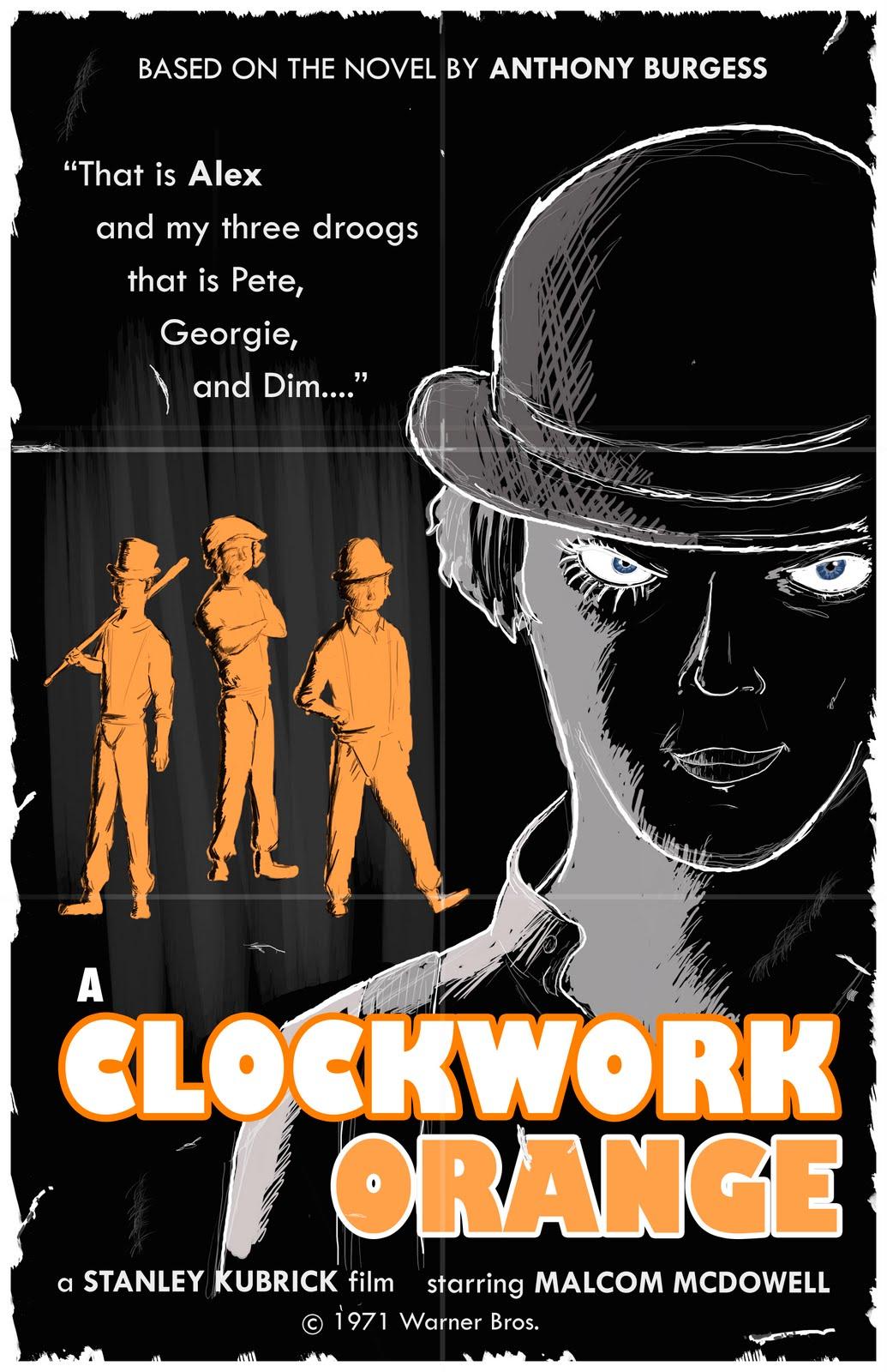 Jeff Walpole's Artwork: A Clockwork Orange Movie Poster