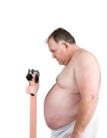 heavy man on scale
