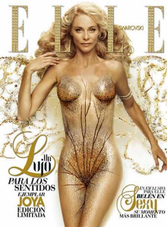 Fashion Assistance Elsa Pataky Desnuda Y Cubierta Con Cristales De