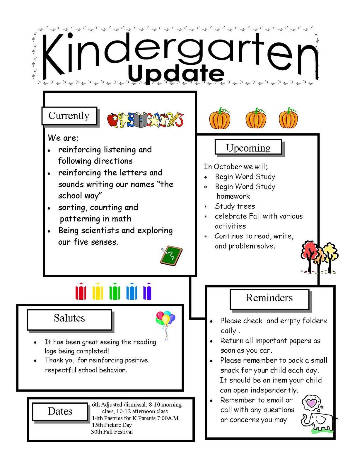 parent newsletter format download