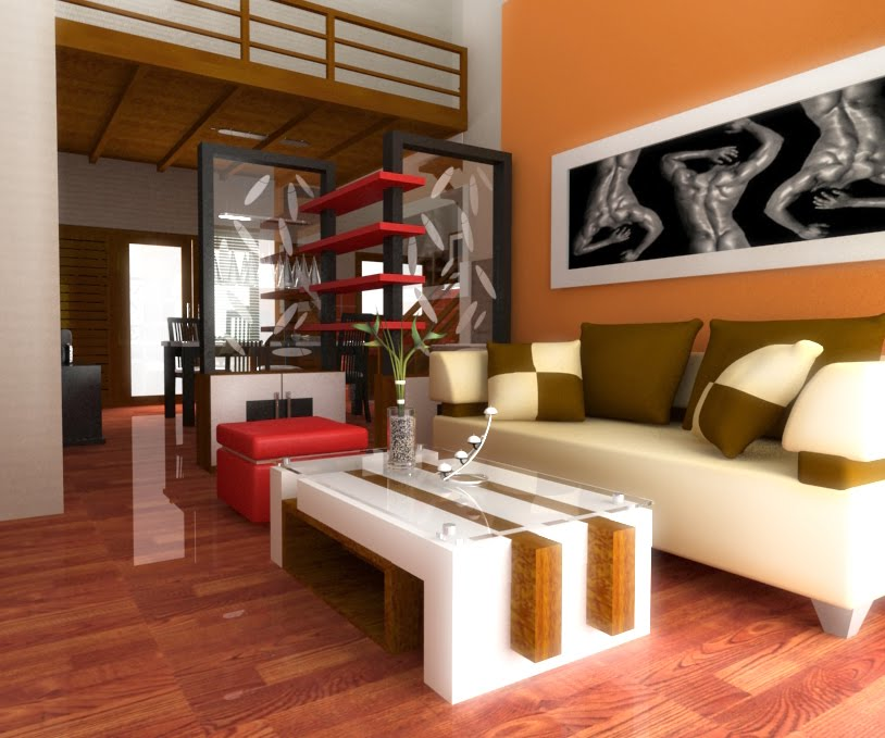 interior  design ruang  tamu  sempit tetapi nyaman