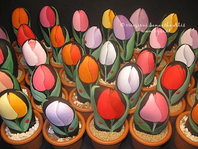 Idee originali  per bomboniere tulipani