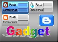 Gadget contador de post y comentarios 1