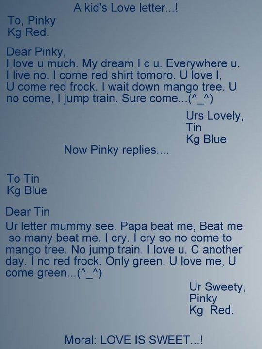Info Pioneer Love Is Sweet Cute Love Letter By A Kid