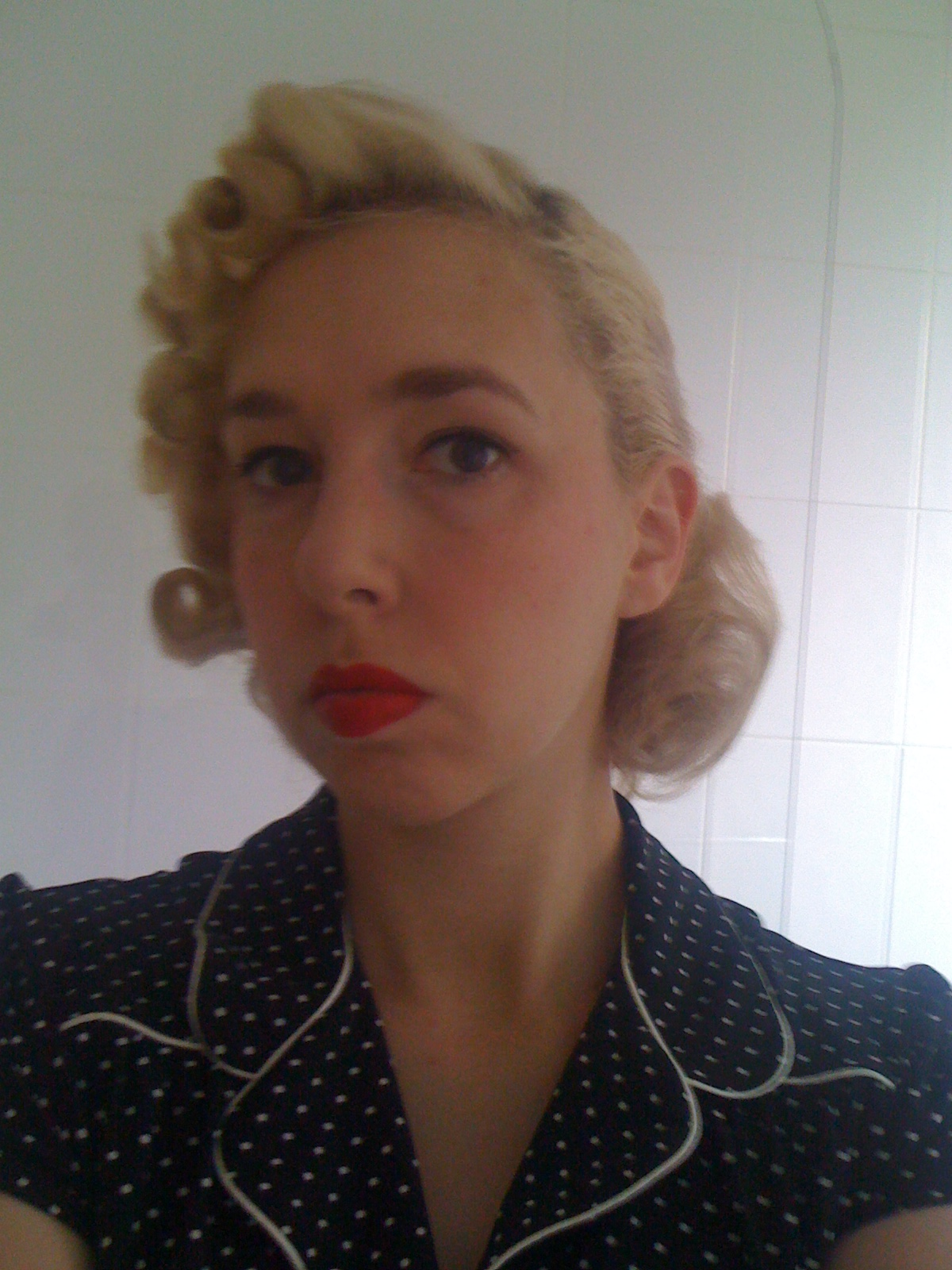 vintage pin curls diagram efie pwm wiring hho systems snoodlebug hair set quotglamorous casual quot