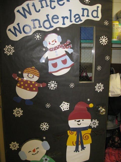Winter Wonderland Classroom Decorations ~ Daily grace creations rd grade door decorations