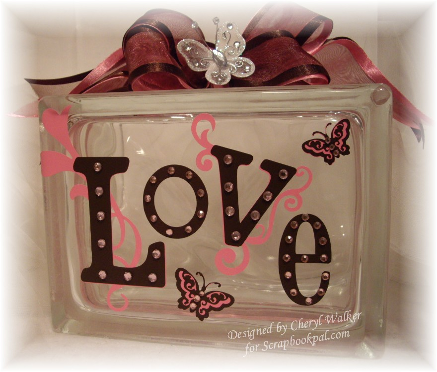 Wall Decor And More: ScrapbookPal.com: Glass Deco Block- Wall Decor And More