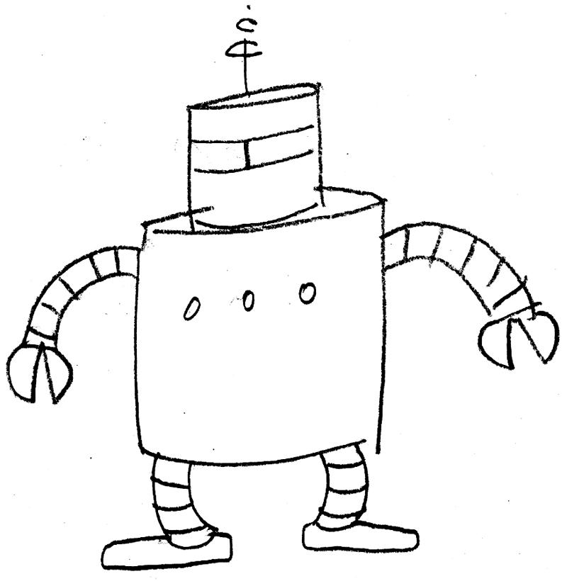 Cartoon Robots In Love