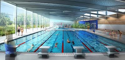 Perspective 3D de concours - Bassin sportif
