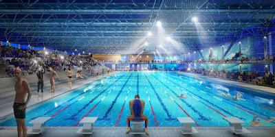 Rendu 3D du concours de la piscine olympique de Tourcoin