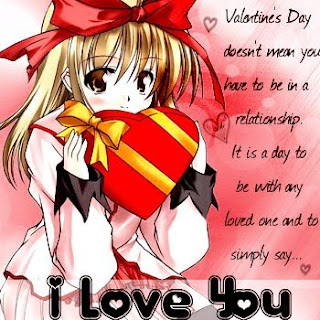 Anime Valentine Day Cards