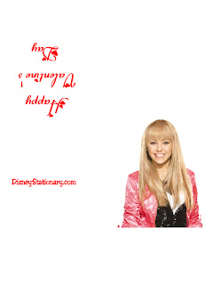 Valentine cards from Hannah Montana