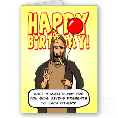 Funny Christmas Birthday Greetings Greeting Cards