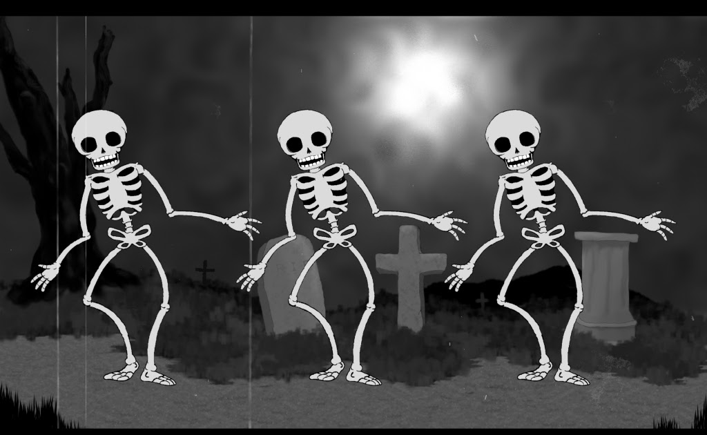 Animated Fire Wallpaper Free Halloween Wallpapers Mmw Blog Dancing Skeleton