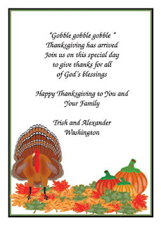 Thanksgiving Party Invitation Cards
