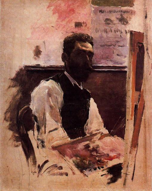 Emilio Sánchez Perrier, Self Portrait, Portraits of Painters, Fine arts, Sánchez Perrier