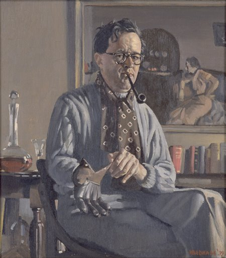 Herbert Badham, Self Portrait, Portraits of Painters, Fine arts, Painter Herbert Badham