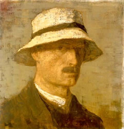 Karl Hofer, Self Portrait, Portraits of Painters, Fine arts, Portraits of painters blog, Paintings of Karl Hofer, Painter Karl Hofer