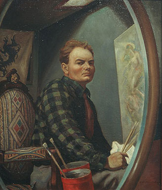 John Steuart Curry, Self Portrait, Portraits of Painters, Fine arts, Steuart Curry