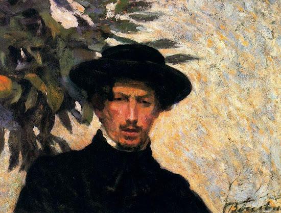 Umberto Boccioni, Self Portrait, Portraits of Painters, Fine arts, Painter Umberto Boccioni