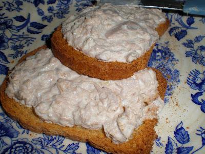 Pate de atun requeson ricotta mayonesa light receta baja en calorias cocina dip pescado vegetariana