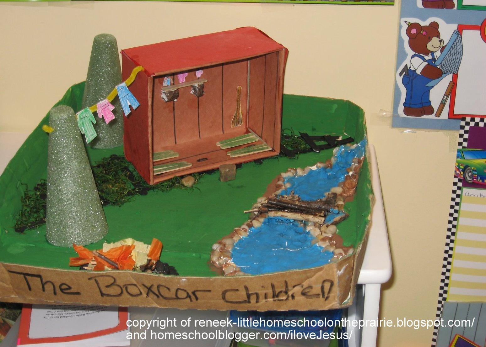 Kids Diorama With Details: Little Homeschool On The Prairie: BoxCar Children Diorama