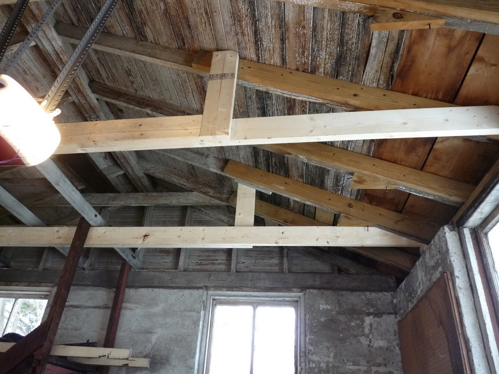 how to fix a sagging ceiling joist