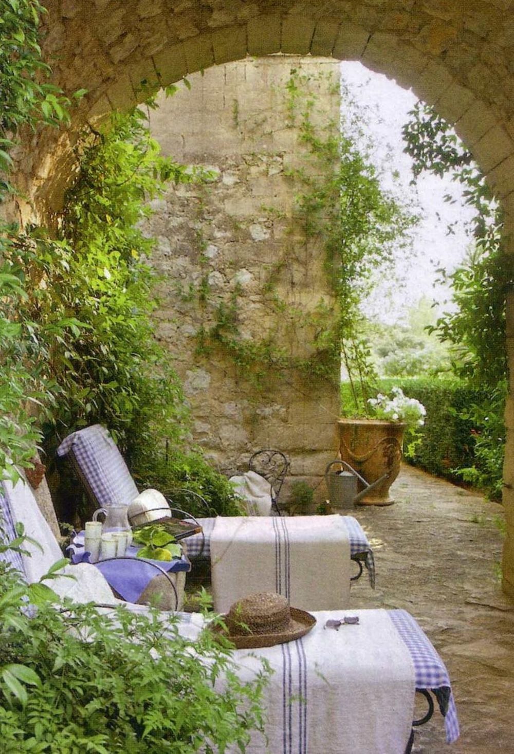 she moves the furniture: Courtyard Gardens on Courtyard Patio Ideas id=46378