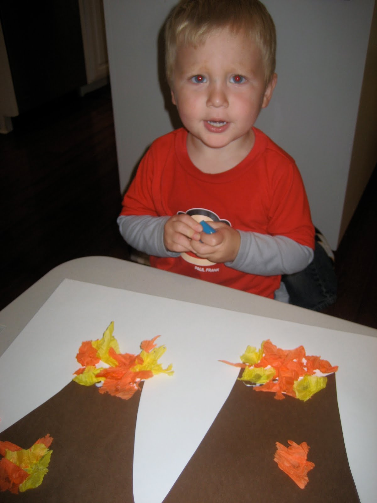Toddler Approved Volcano Art And Science Experiment